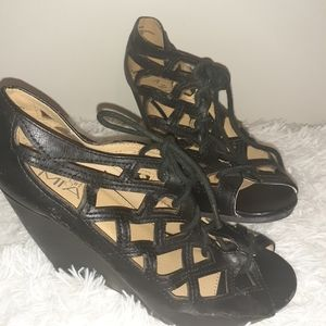 Womens Wedge Dress Shoes Sandals Size 7